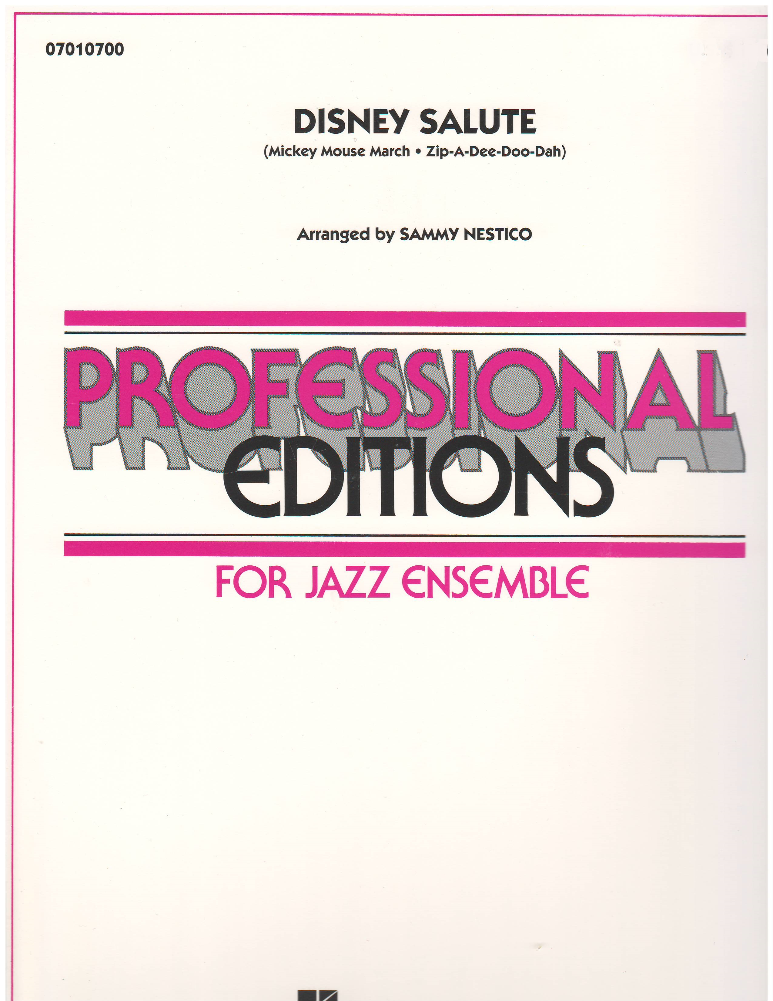 DISNEY SALUTE - By Composer / Performer, Jazz Ensemble (Big Band
