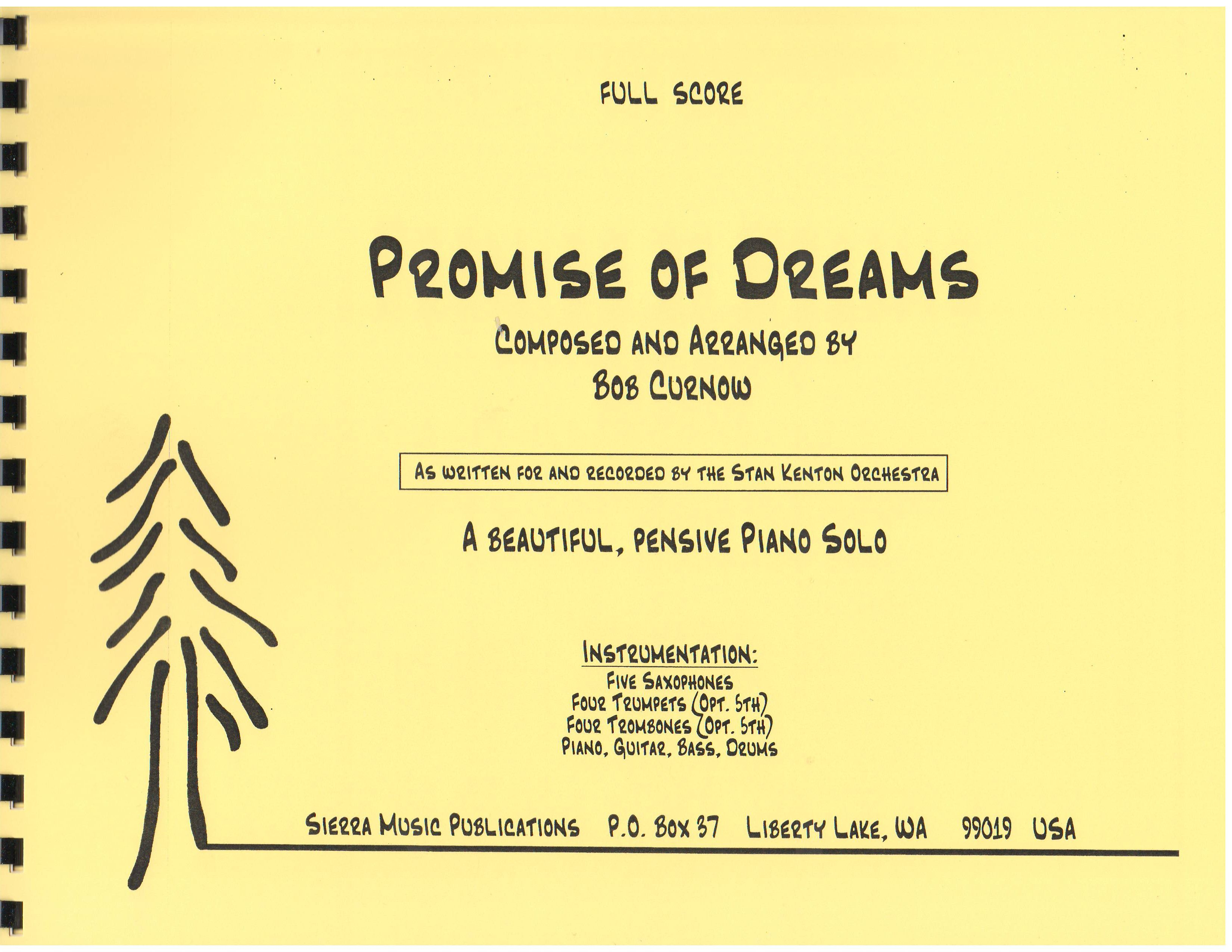 PROMISE OF DREAMS - By Composer / Performer, Curnow, Bob