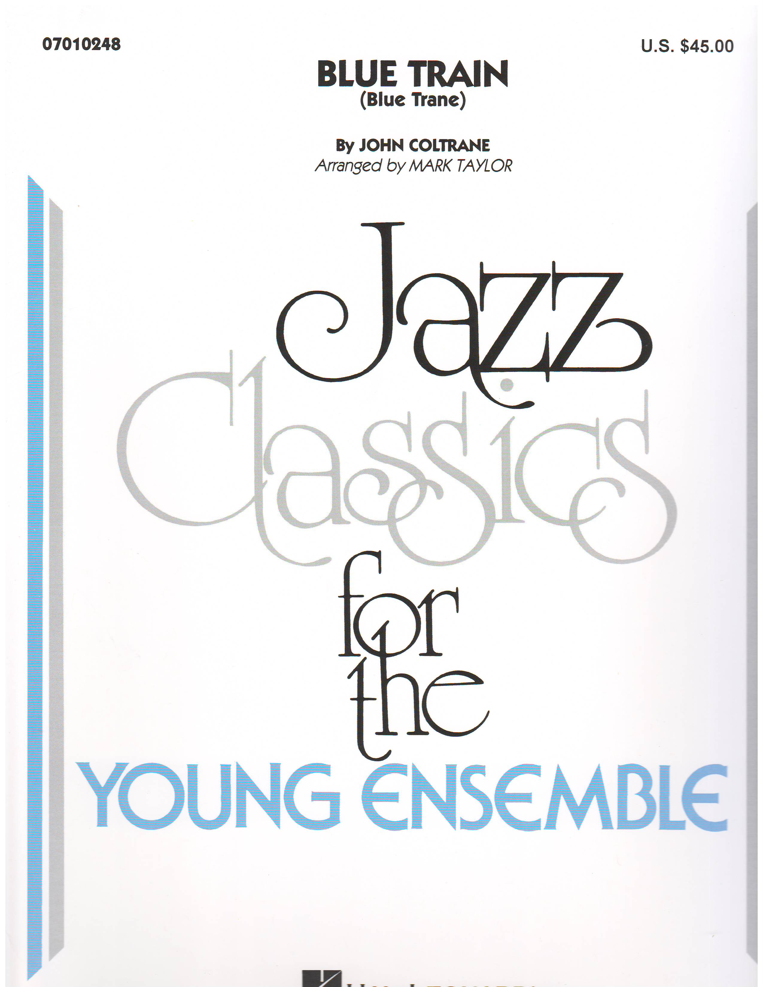 BLUE TRAIN - Jazz Classics for Younger Bands, Jazz Ensemble (Big