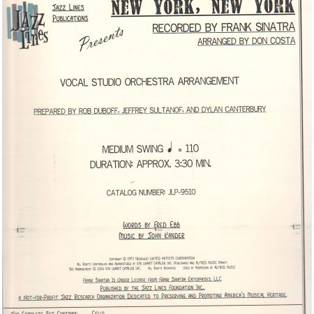NEW YORK, NEW YORK - By Composer / Performer, By Performer, Jazz