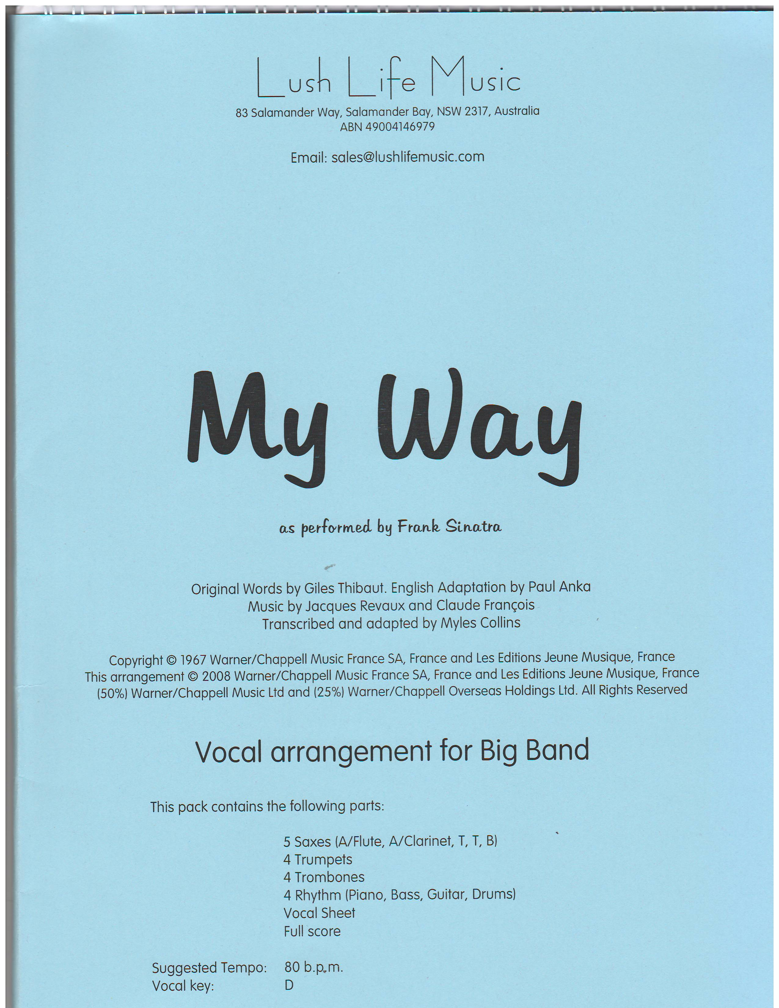 MY WAY - By Composer / Performer, By Performer, Jazz