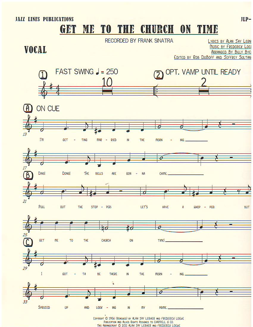 GET ME TO THE CHURCH ON TIME - By Composer / Performer, By