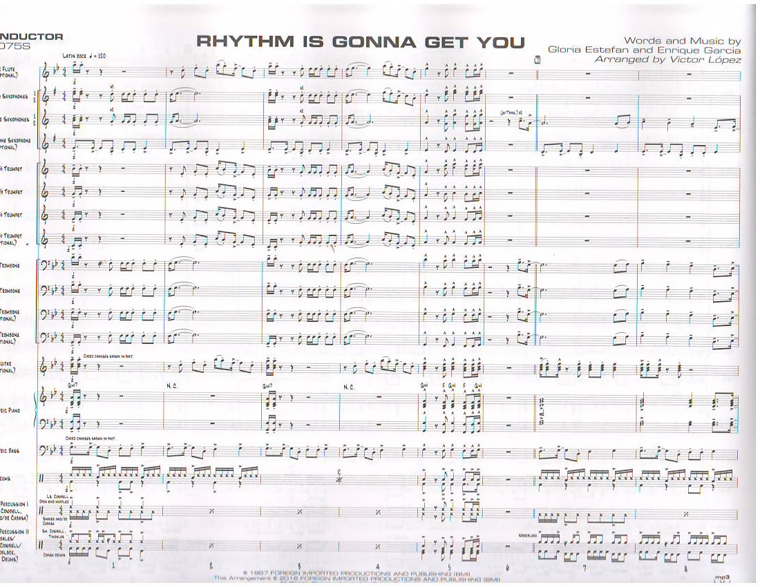 Rhythm Is Gonna Get You Jazz Ensemble Big Band Popular Titles