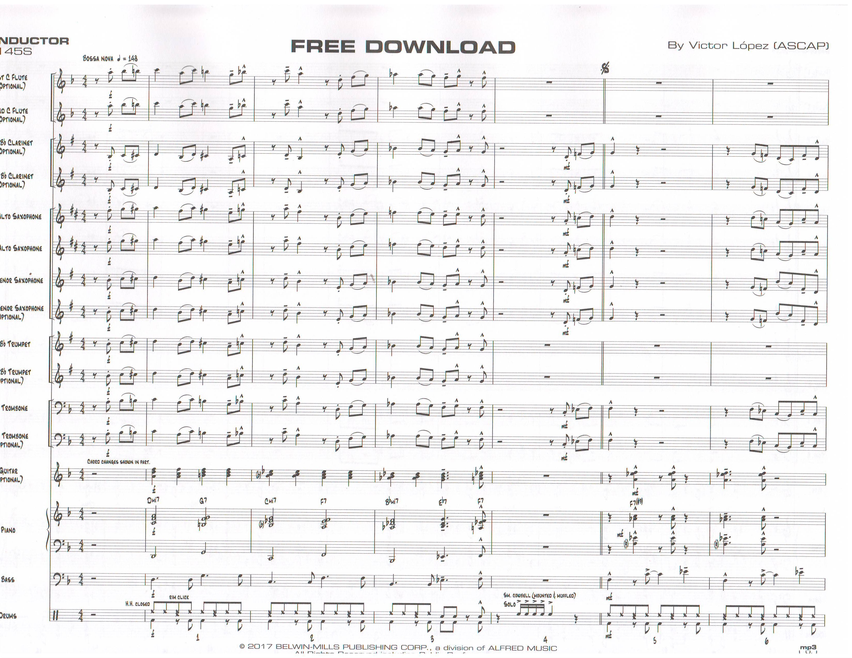 FREE DOWNLOAD - Jazz Ensemble (Big Band), Young Bands