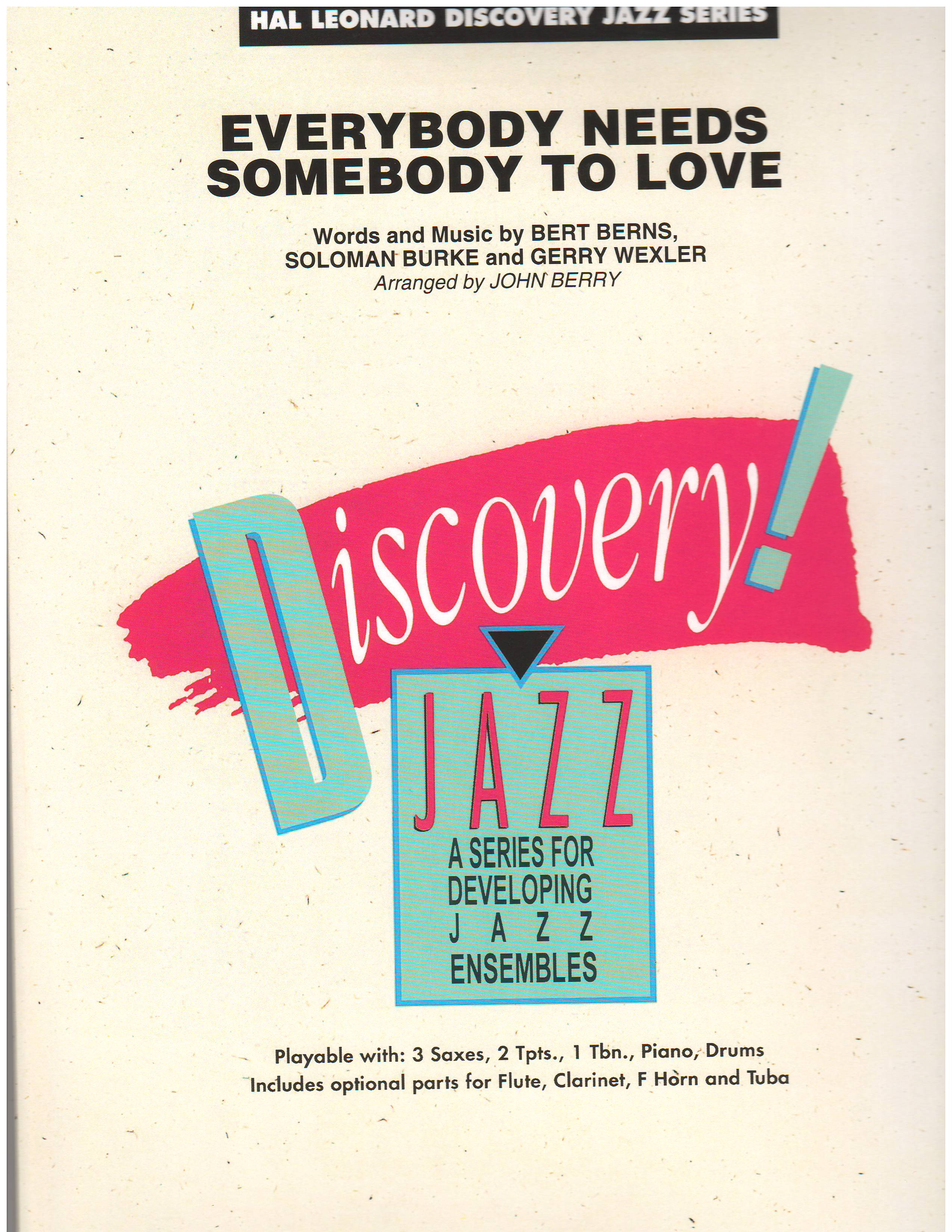 EVERYBODY NEEDS SOMEBODY TO LOVE - Flexible Instrumentation