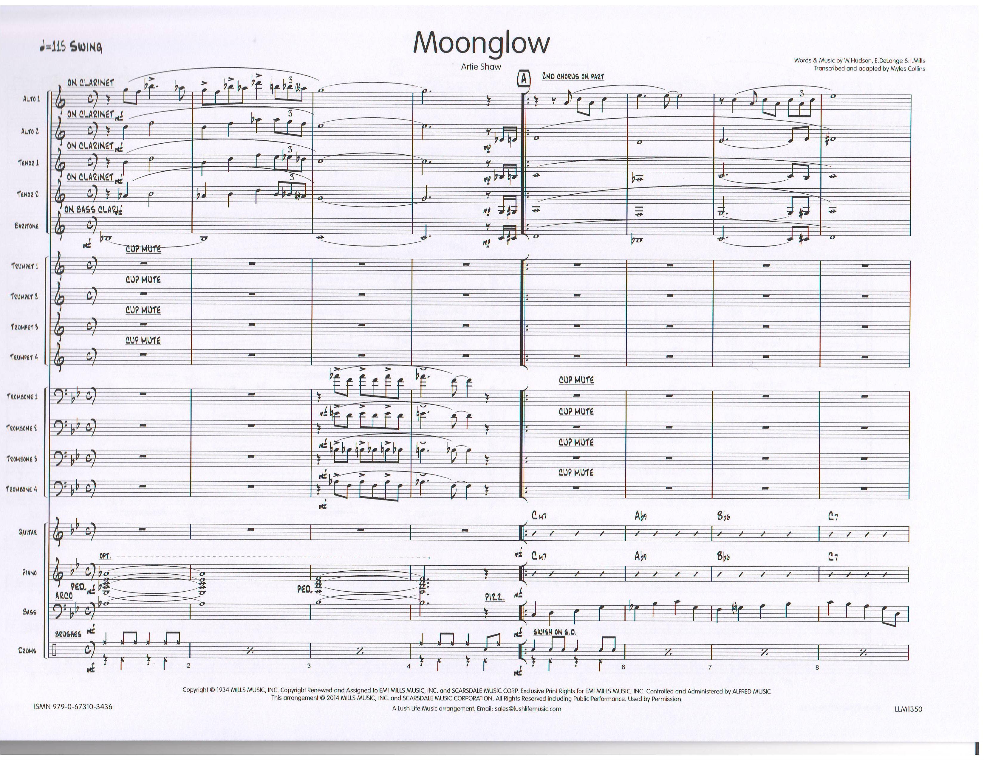 MOONGLOW - Big Band Era Transcriptions, Jazz Ensemble (Big Band